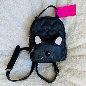 Betsey Johnson Mini Pug Backpack